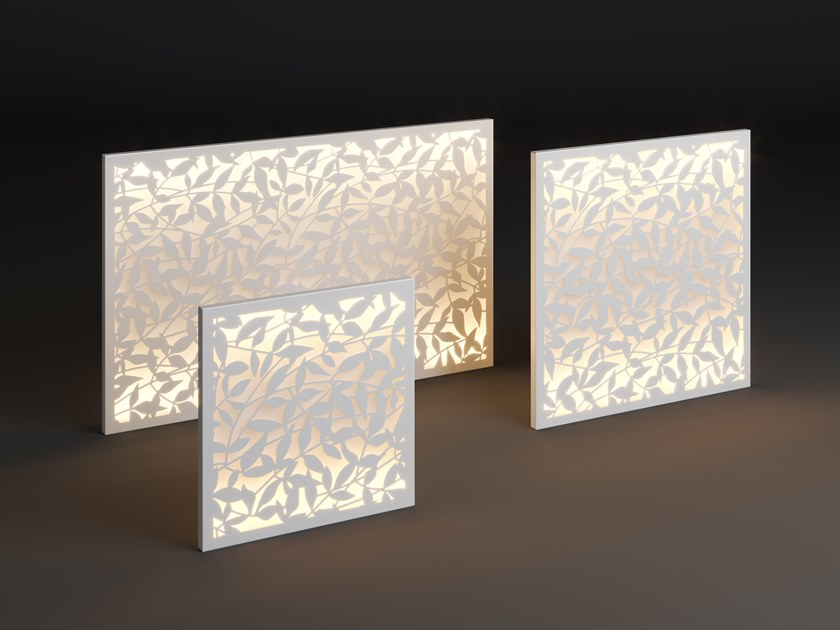 LED metal wall lamp PANEL GRIN by Laubo