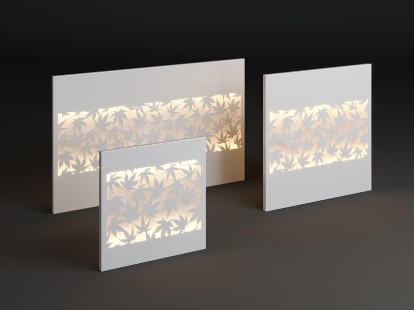 LED metal wall lamp PANEL KLON STRIP by Laubo