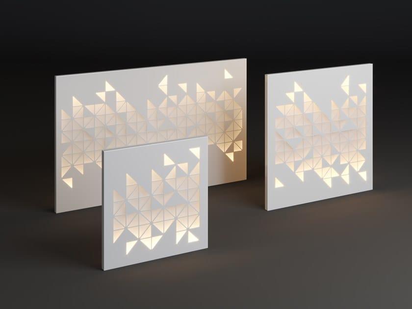 Lampada da parete per esterno a LED in metallo PANEL MOSAIC by Laubo