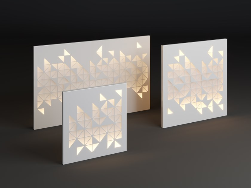 LED metal wall lamp PANEL MOSAIC by Laubo