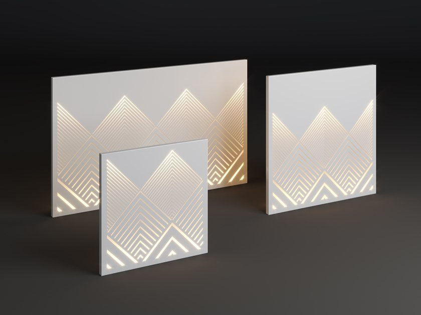 LED metal wall lamp PANEL MOUNT by Laubo