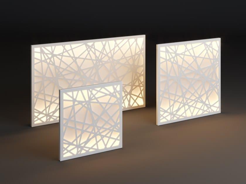 LED metal wall lamp PANEL NET by Laubo