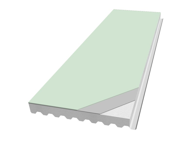 Insulated metal panel for roof PANEL R-GP TPO by iCurvi di Medacciai
