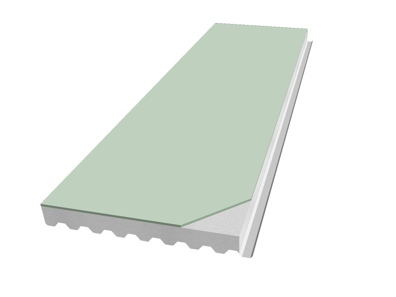 Insulated metal panel for roof PANEL R-GTPO by iCurvi di Medacciai