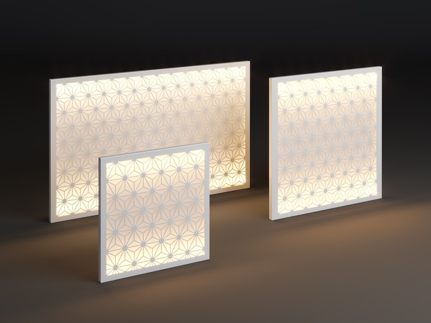 LED metal wall lamp PANEL STAR by Laubo