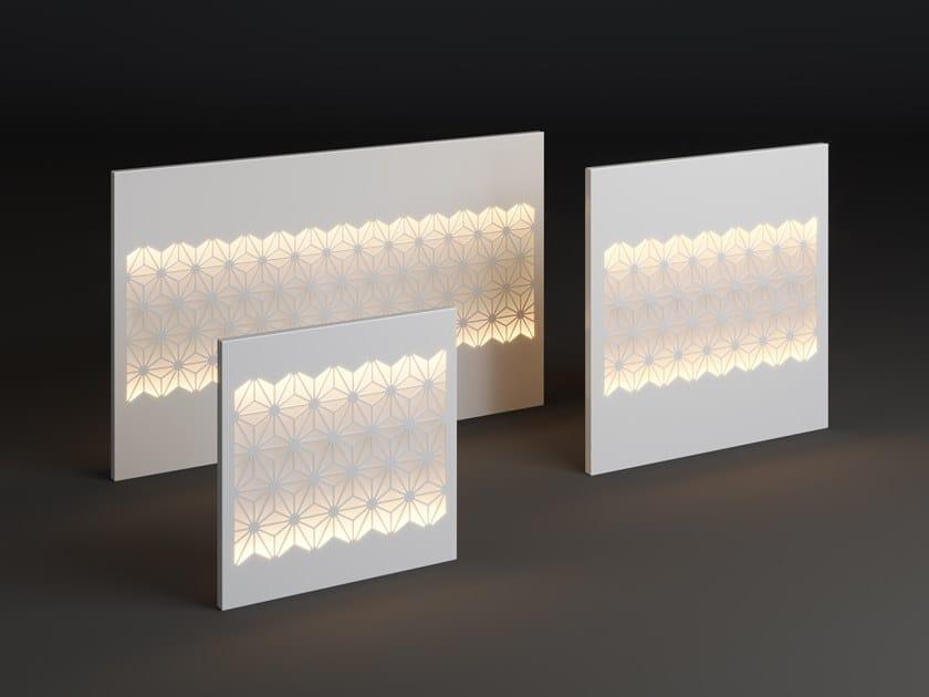 LED metal wall lamp PANEL STAR STRIP by Laubo