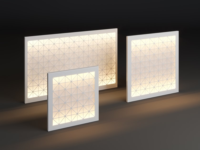 LED metal wall lamp PANEL TILE by Laubo