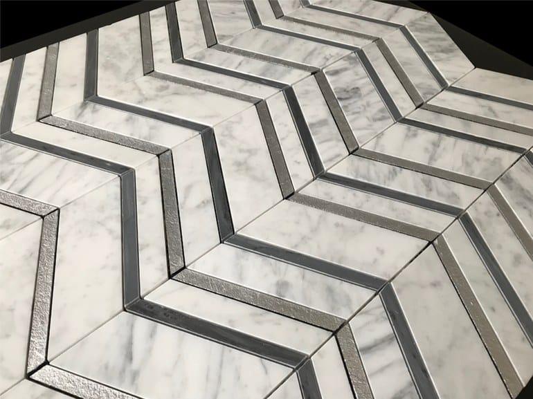 Marble flooring PANNELLO 10 by Lithos Mosaico Italia