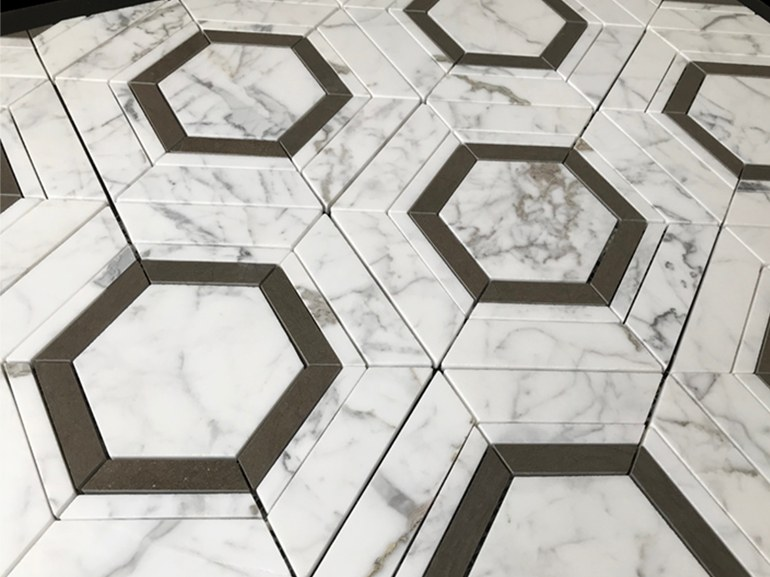 Marble flooring PANNELLO 11 by Lithos Mosaico Italia