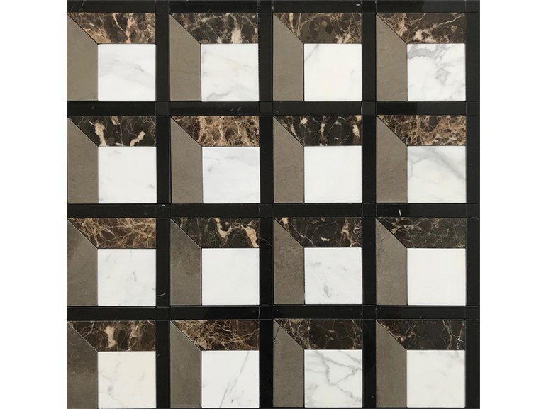 Marble flooring PANNELLO 15 by Lithos Mosaico Italia