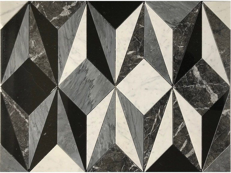 Marble flooring PANNELLO 2 by Lithos Mosaico Italia