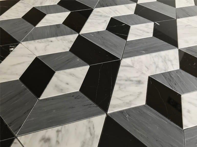Marble flooring PANNELLO 5 by Lithos Mosaico Italia
