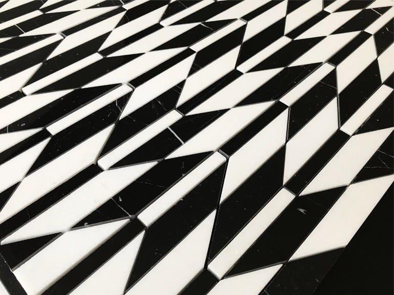 Natural stone flooring PANNELLO 6 by Lithos Mosaico Italia