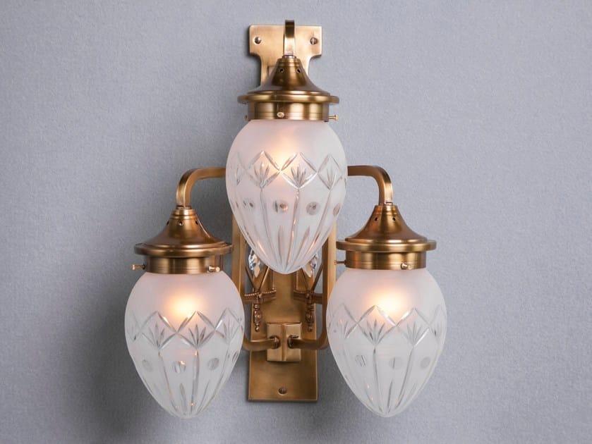 Direct light brass wall lamp PANNON III | Wall lamp by Patinas Lighting