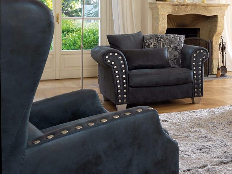 Leather armchair PANTHEON | Armchair by Borzalino