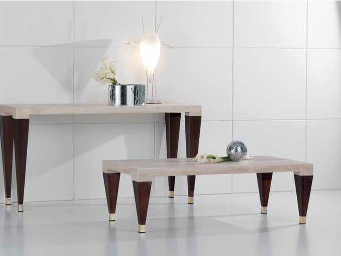 Rectangular travertine coffee table PAPAGIN   Coffee table by International Marmi