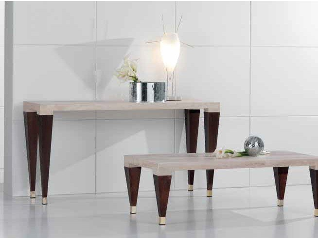 Rectangular travertine console table PAPAGIN | Console table by International Marmi