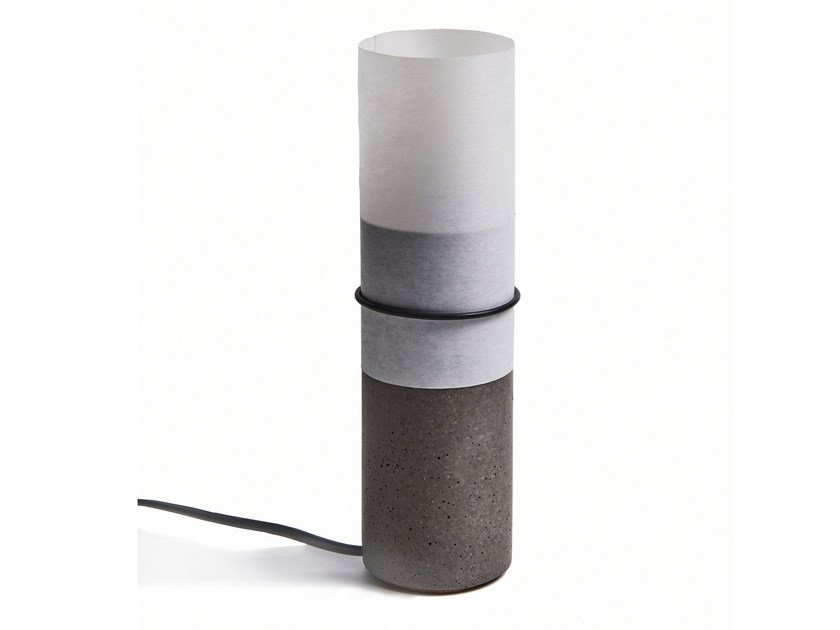 Concrete table lamp PAPEL by URBI et ORBI