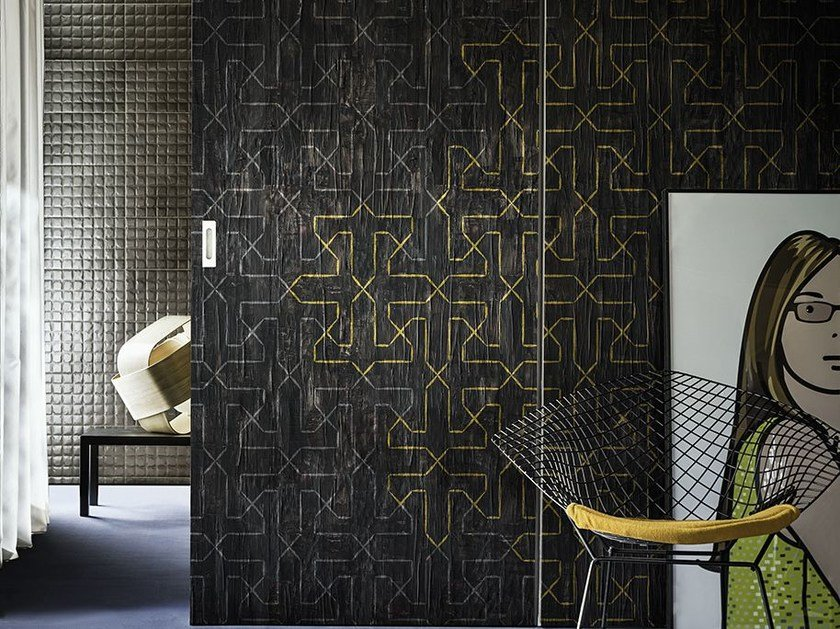 Motif geometric wallpaper PAPER EDGE by Wall&decò