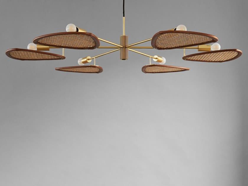 Lampada a sospensione a LED in rattan e alluminio PAPILLION COLONIAL by 101 Copenhagen