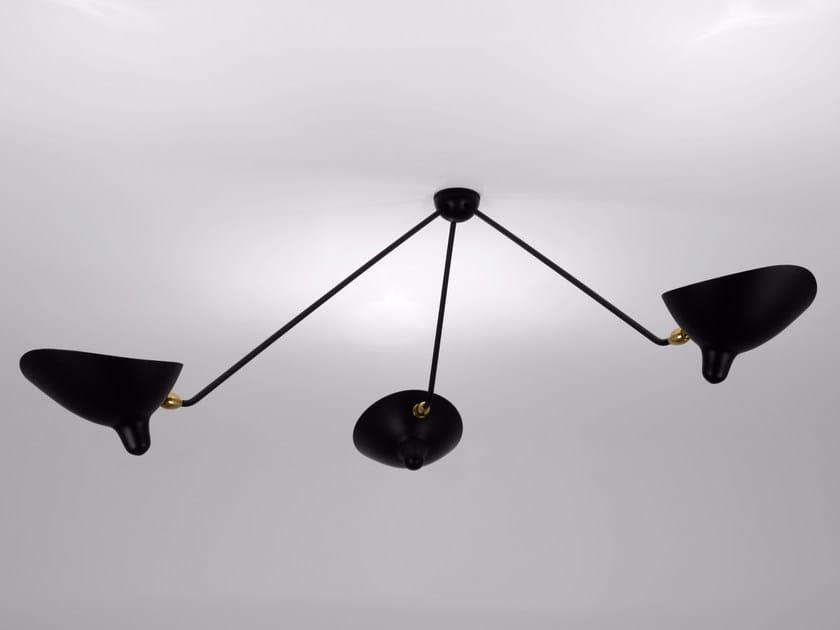 Adjustable metal ceiling lamp PAR3B | Ceiling lamp by Serge Mouille