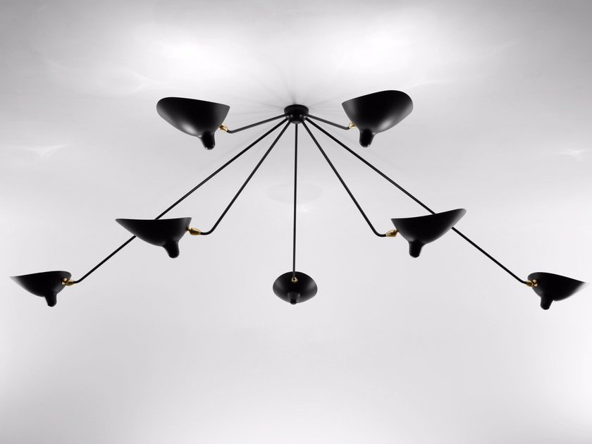 Adjustable metal ceiling lamp PAR7B | Ceiling lamp by Serge Mouille