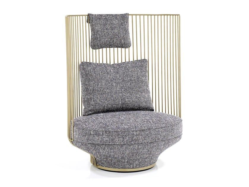 High-back fabric armchair PARADISE BIRD | High-back armchair by Wittmann