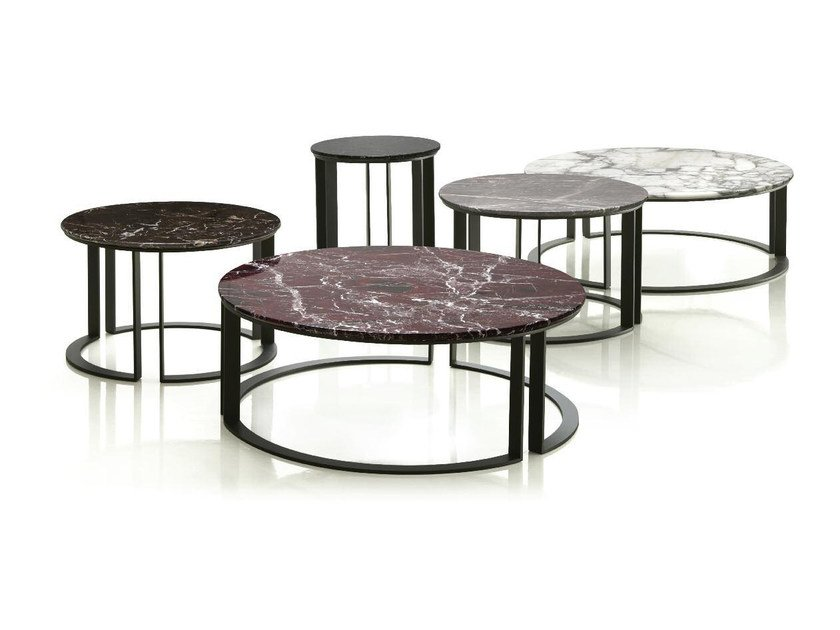 Round marble coffee table PARALLEL by Papadatos