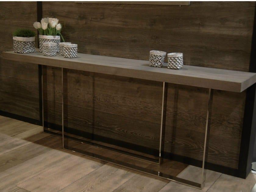 Rectangular oak console table PARALLÈLE by CABUY D.