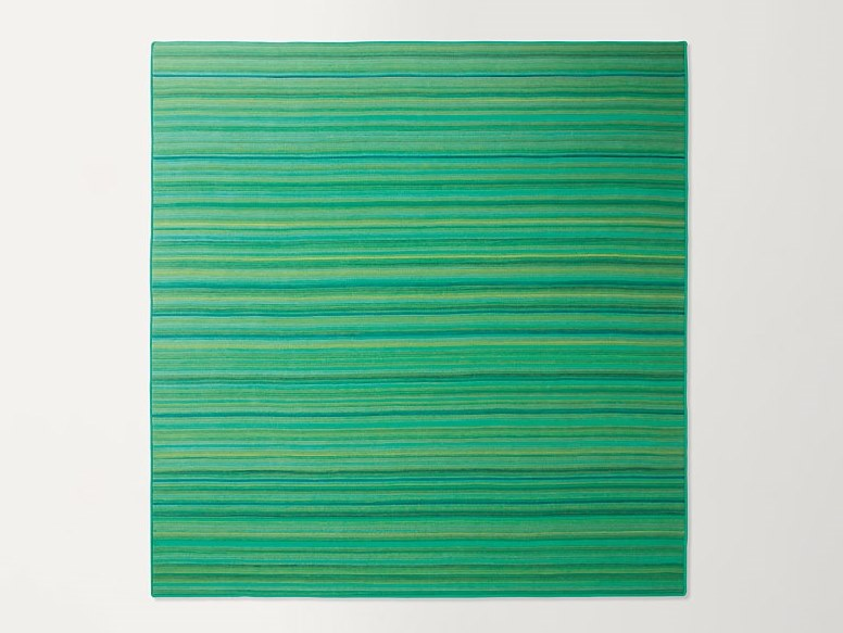 Square striped wool rug PARALLELO | Square rug by paola lenti