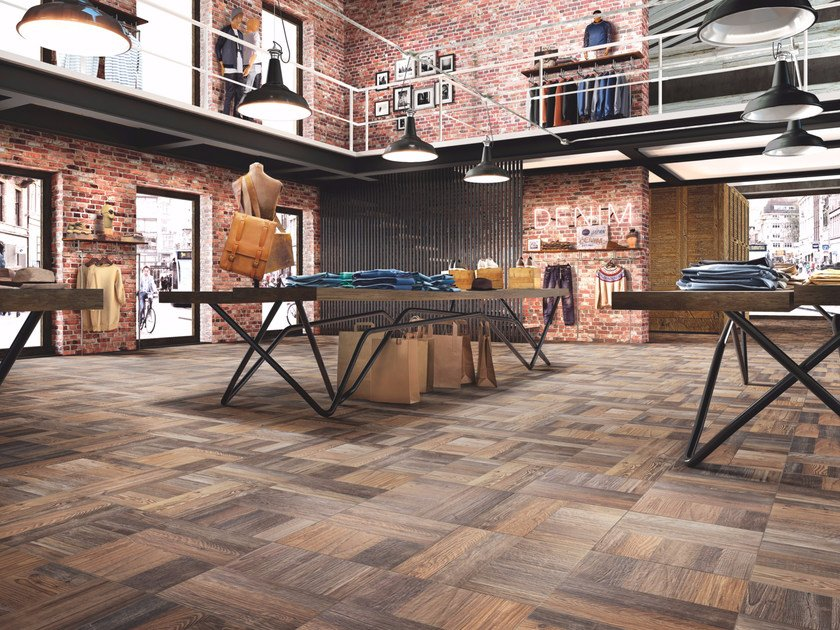 Porcelain stoneware flooring with wood effect PARCHI by Casalgrande Padana