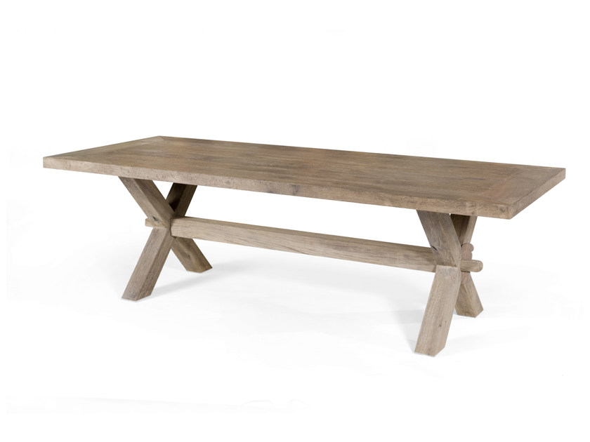 Rectangular oak table PARESSE by CABUY D.