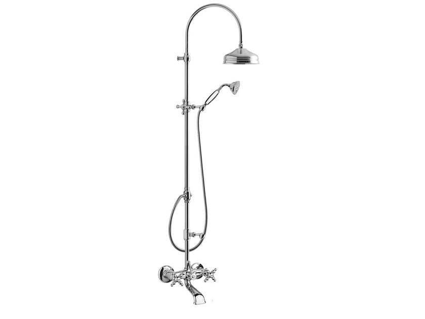 Wall-mounted shower panel with overhead shower PARIGI - 7300WC-S by Rubinetteria Giulini
