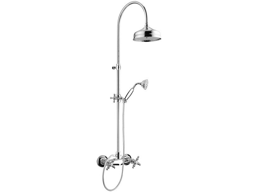 Wall-mounted shower panel with overhead shower PARIGI - 7307WC-S by Rubinetteria Giulini