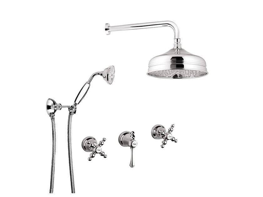 Shower set with overhead shower PARIGI - 7316W2KB by Rubinetteria Giulini