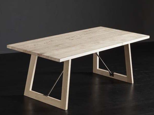 Rectangular oak dining table PARIGI + FLAT / TIRANTI by AltaCorte