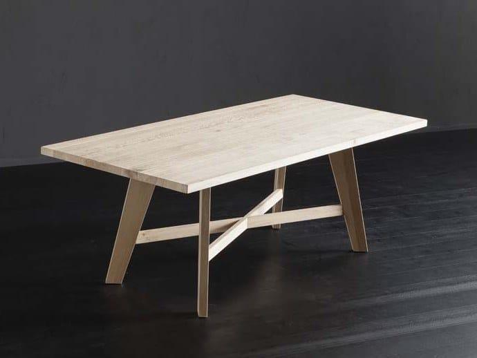 Rectangular solid wood dining table PARIGI + PECHINO by AltaCorte