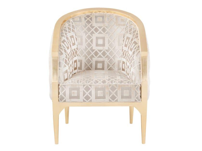 Velvet armchair with armrests PARIS | Armchair by Green Apple