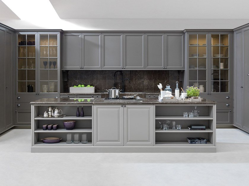 Fitted kitchen with island PARIS | Kitchen by Ornare