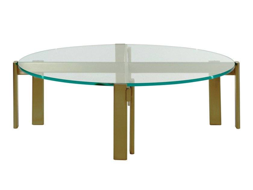 Round glass coffee table PARIS PANAME | Coffee table by ROCHE BOBOIS