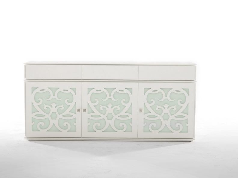 Wood and glass sideboard with doors PARIS | Sideboard by Tonin Casa