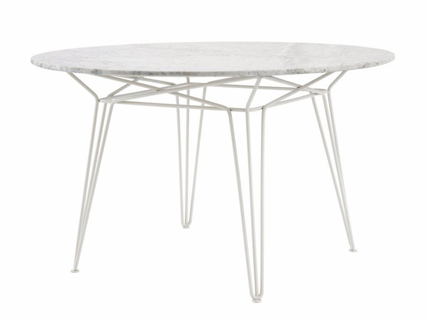 Round marble garden table PARISI | Marble table by SP01