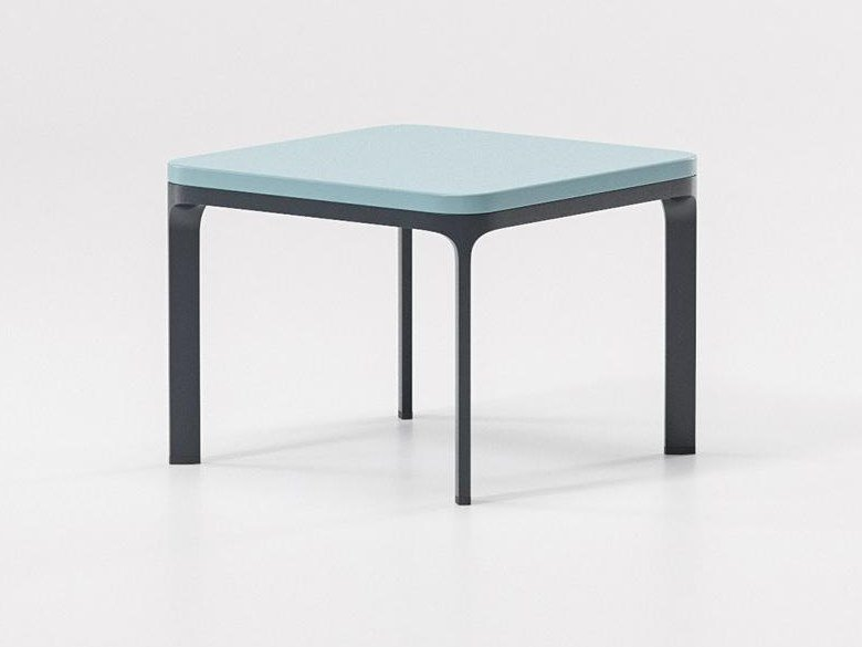 Low Square Garden Side Table