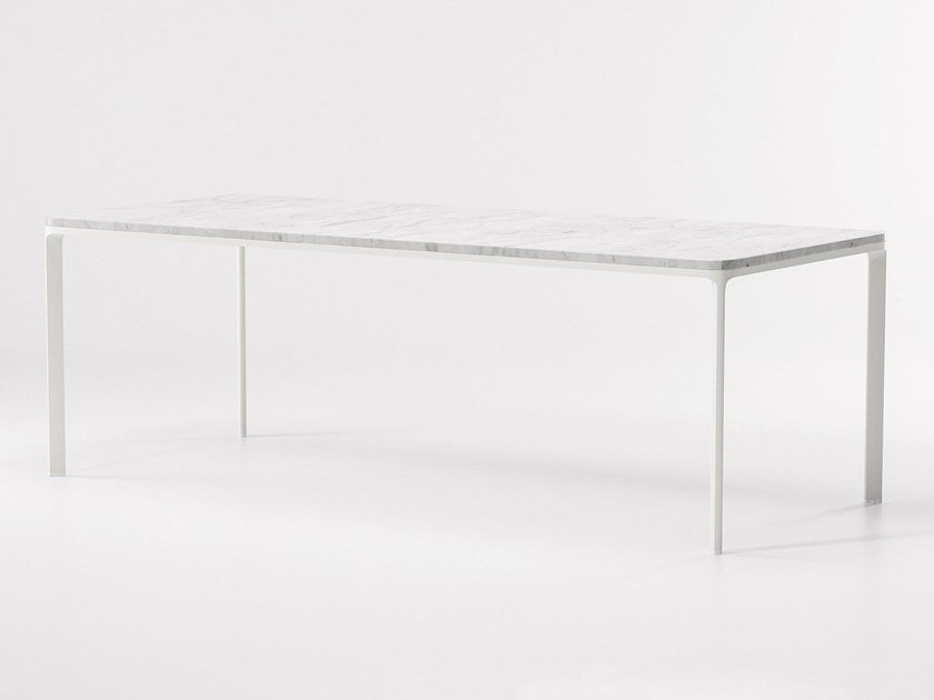Rectangular marble garden table PARK LIFE | Marble table by KETTAL