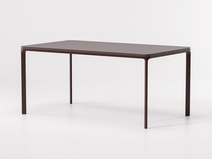 Rectangular aluminium garden table PARK LIFE | Rectangular table by KETTAL