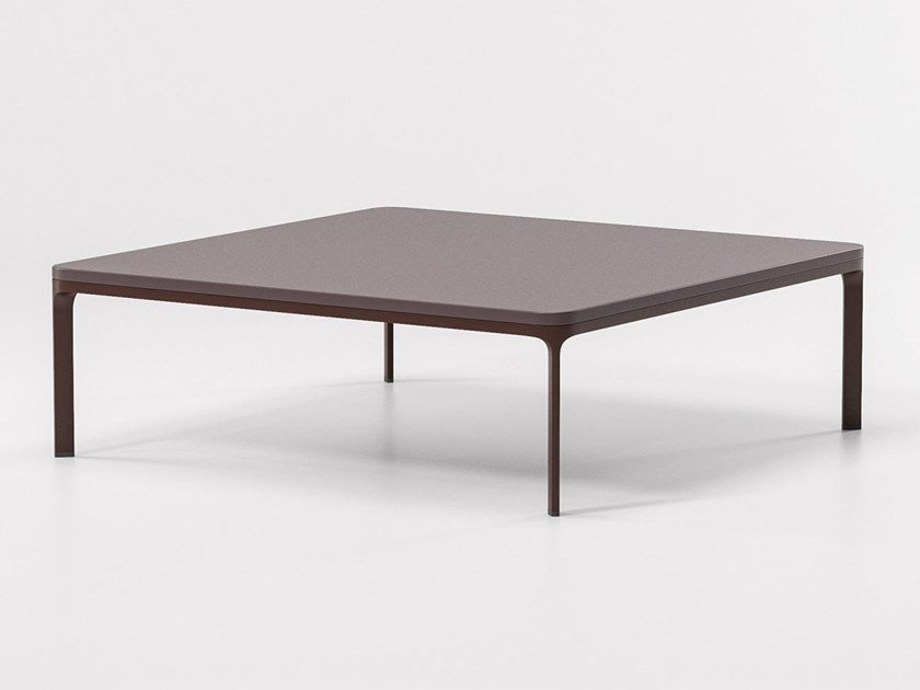 Low square stone coffee table PARK LIFE | Square coffee table by KETTAL