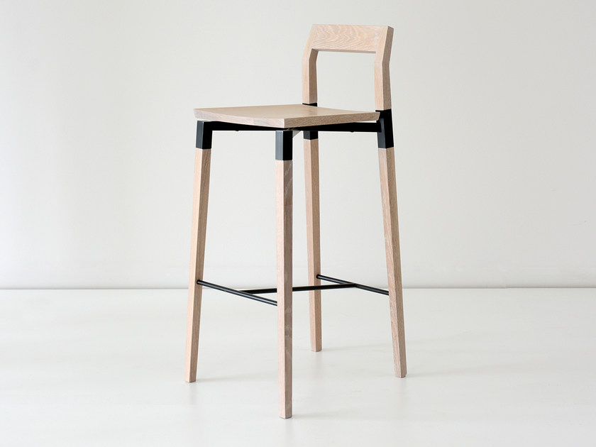 Solid wood chair with footrest PARKDALE | Chair by hollis+morris