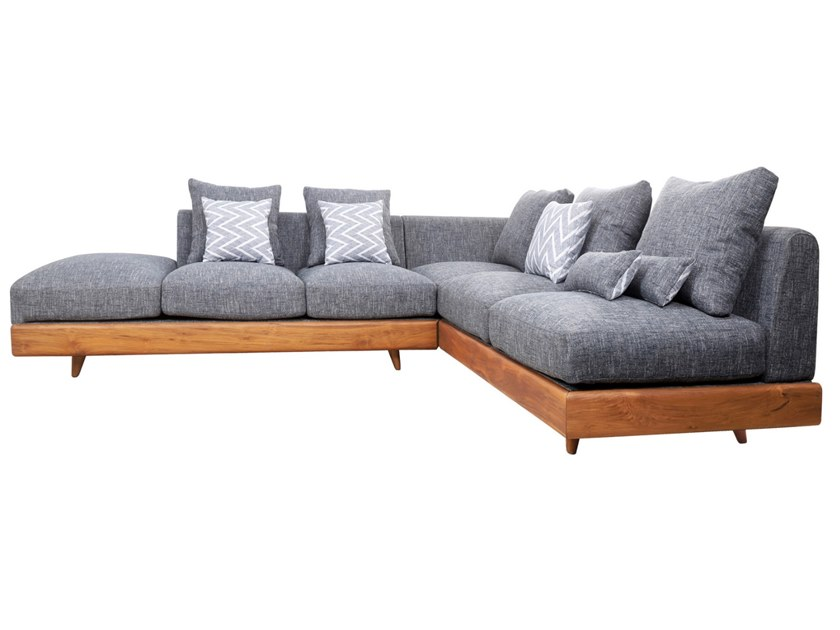 Corner fabric sofa PARLAK by ALANKARAM