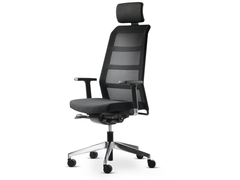 Swivel task chair with 5-Spoke base with armrests PARO_24/7 | Task chair with armrests by Wiesner-Hager