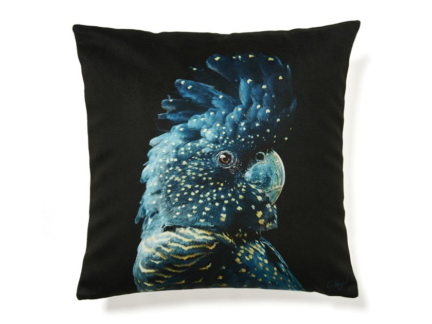 Square cushion PARROT by Koziel